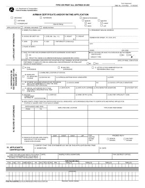 Faa Form 8610 1 - Fill Online, Printable, Fillable, Blank | PDFfiller