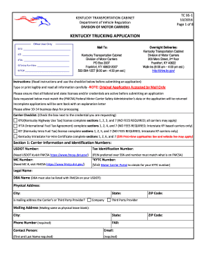 kentucky trucking application