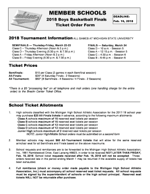 mhsaa basketball finals school ticket form