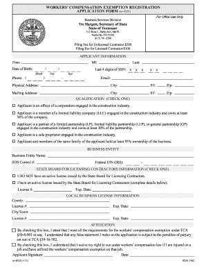 workers compensation insurance application Forms and Templates ...