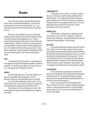 D: resume format and examples .wpd - law onu