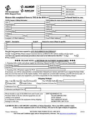 Tsi Rma Request Form - Fill Online, Printable, Fillable, Blank ...