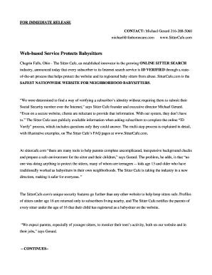 Ohio Babysitter Liability Release - Fill Online, Printable ...