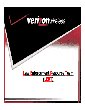 verizon lert Law Enforcement Resource Team Verizon Wireless - Fill Online ...
