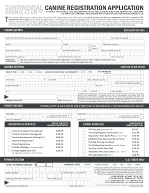 Ckc Registrationapplication - Fill Online, Printable