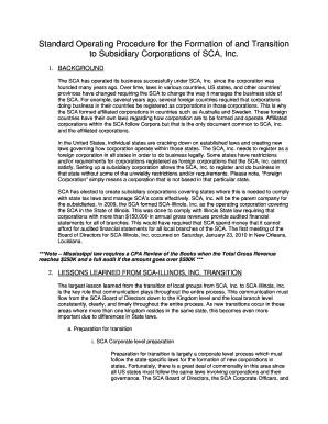 corporation and subsidiary company essay example
