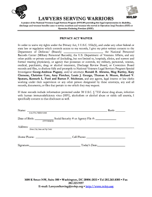 Privacy Act Waiver Form Veterans - Fill Online, Printable ...