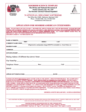 Moors Indigenous Proclamation Form Pdf - Fill Online, Printable
