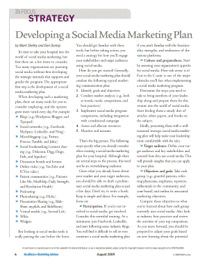 Developing a Social Media Marketing Plan