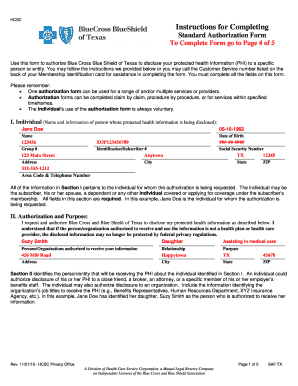 Standard Authorization Form Bcbs - Fill Online, Printable ...