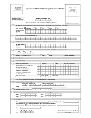 New Pan Card Form - Fill Online, Printable, Fillable, Blank ...