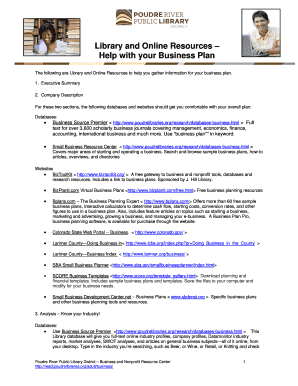 Business plan template sba fillable printable life forms to library and online resources help with your business plan read poudrelibraries accmission Image collections