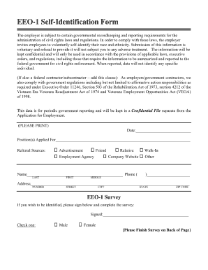 Eeo Self Identification Form 2013 - Fill Online, Printable ...