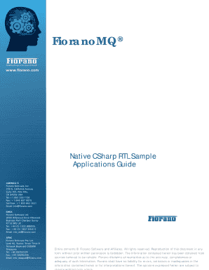 FMQ C (Native) RTL Sample Applications Guide - Fiorano