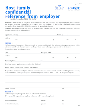 Host aupair family employer reference fill online printable host aupair family employer reference spiritdancerdesigns Gallery