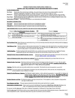 Medicaid Transportation Reimbursement - Fill Online, Printable ...