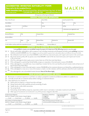 Accredited Investor Form - Fill Online, Printable, Fillable, Blank ...