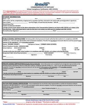 School 2017 Compliance Verification Form Ky - Fill Online ...
