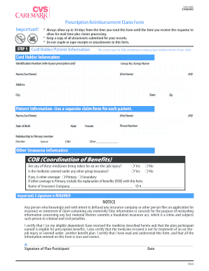caremark reimbursement form