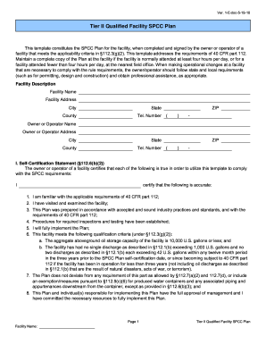 florida tier ii spcc plan form
