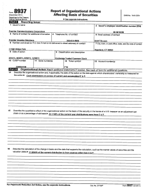 frontier communications form 8937