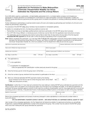 Mta 599 - Fill Online, Printable, Fillable, Blank   PDFfiller