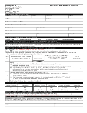 usdot registration Forms and Templates - Fillable & Printable ...