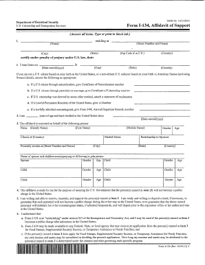 2011 Form USCIS I-134 Fill Online, Printable, Fillable, Blank ...