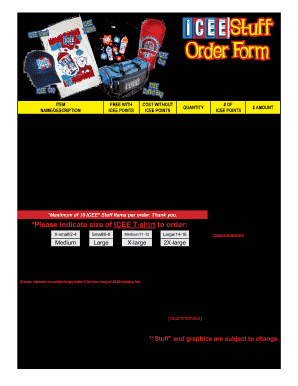 stuff d order form  Icee - Fill Online, Printable, Fillable, Blank | PDFfiller