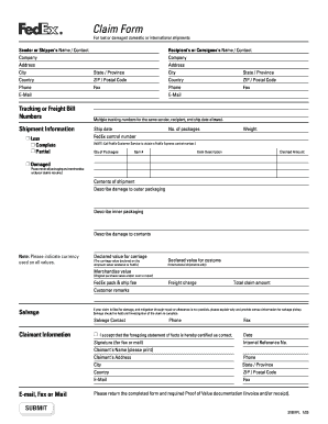 Commercial invoice fedex - Edit Online, Fill Out & Download