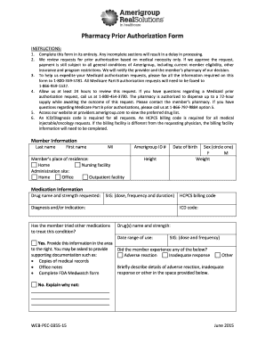Pharmacy Prior Authorization Form