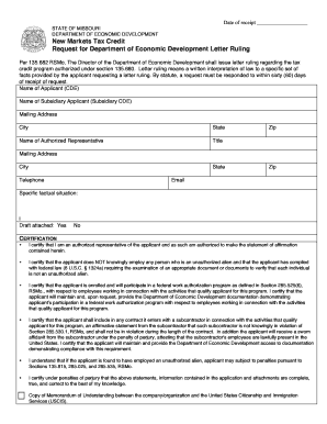 missouri form for request for letter ruling