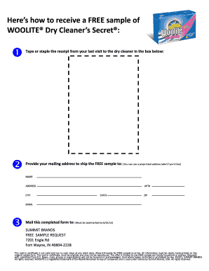 dry cleaners orem form