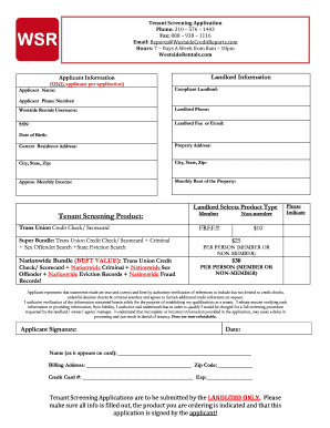 Fillable Form Tenant Screening - Fill Online, Printable, Fillable ...