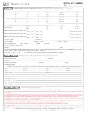 winn residential housing application form