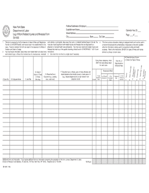 department of labor sh 900 form