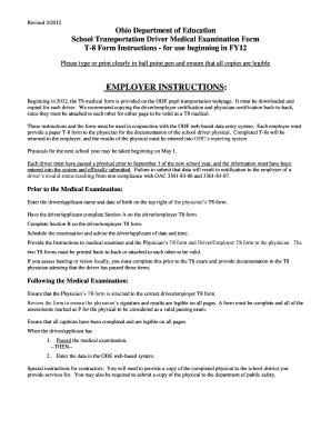T 8 Fillable School Transportation Form - Fill Online, Printable ...