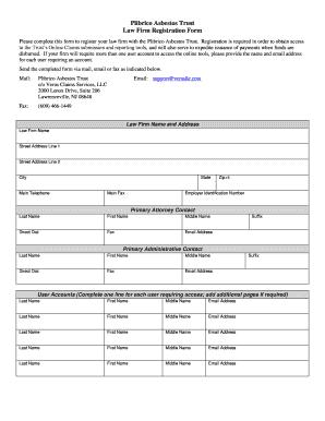 Plibrico Asbestos Trust Form
