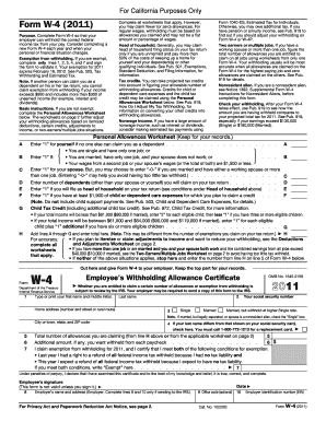 California W4 Form Fillable - Fill Online, Printable, Fillable ...