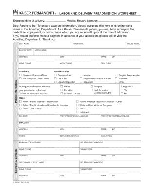 patient admission form templates