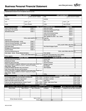 becu personal financial statement form