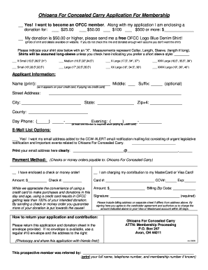 5620530 Oklahoma Concealed Carry Application Form To Print Out on