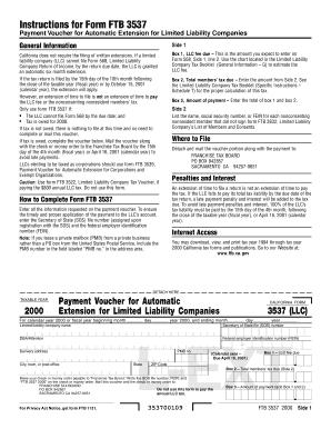 Ca Form 3537 - Fill Online, Printable, Fillable, Blank | PDFfiller