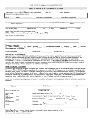 feather river college facility use form