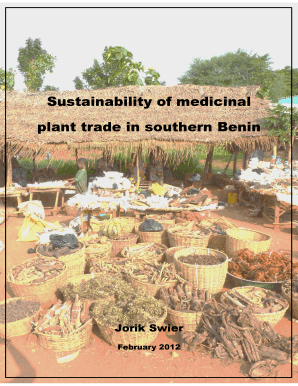 Sustainability of medicinal plant trade in southern Benin