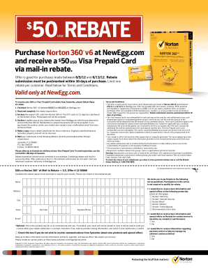 Newegg Norton Rebate Form - Fill Online, Printable, Fillable ...