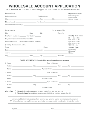 wholesale account application form