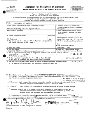 Form 1023 Mn - Fill Online, Printable, Fillable, Blank ...
