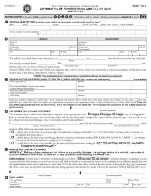 Nys Dmv Bill Of Sale - Fill Online, Printable, Fillable, Blank ...
