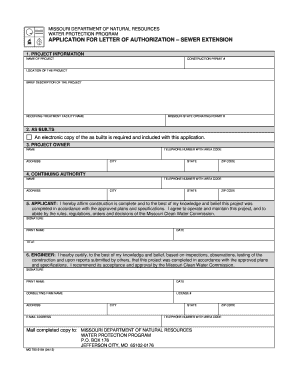 dnr application for letter of authorization form